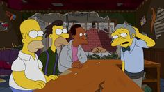 Lesson learned: Lenny, Carl, & Homer cannot run Moe's. So three heads are NOT better than one. #thesimpsons