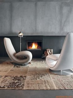 7865 Ricciolo - Chaise longue and armchair by Tonin Casa