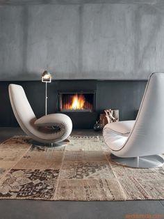 7865 Ricciolo - Chaise longue and armchair by Tonin Casa