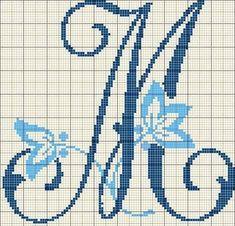 Monogram Alphabet, Alphabet And Numbers, Cross Stitching, Cross Stitch Embroidery, Cross Stitch Alphabet Patterns, Embroidery Letters, Christmas Cross, Pixel Art, Needlework