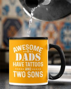 Awesome Dads Have Tattoos and Two Sons - Gold mermaid tattoo, sunflower tattoos, cat tattoos #tattootime #inktattoo #tattoolove, dried orange slices, yule decorations, scandinavian christmas Red Tattoos, Time Tattoos, Small Tattoos, Grandparents Tattoo, Hunting Tattoos, Bikini Tattoo, Sunflower Tattoos, Mountain Tattoo, Mermaid Tattoos