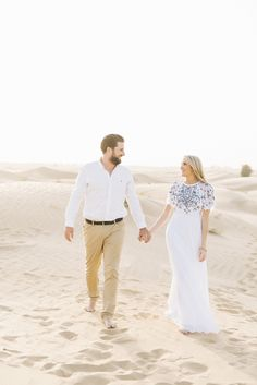 Grace and Jeremy's engagement shoot took place in the warm sand of Dubai with Lizelle Goussard Photography featured on BLOVED blog!