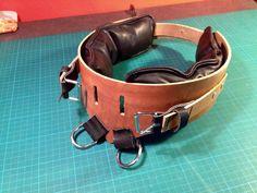 SM Leder Fußfesseln, gepolstert, 2 D-ring by fsewing Belt, Bracelets, Accessories, Jewelry, Fashion, Ring, Leather, Belts, Moda