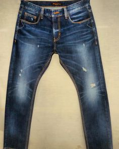Mens Dark Jeans, Denim Jeans Men, Jeans Pants, True Jeans, Denim Ideas, Vintage Jeans, Denim Fashion, Jeans Style, Men's Denim