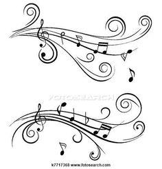 Clipart - ornamental, notas música k7717368 - Busca de Clip Art, Ilustrações em Posters, Desenhos e Vetores Gráficos EPS - k7717368.eps
