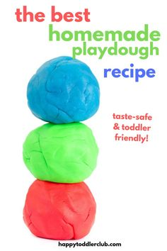 How to make homemade playdough. This is the best homemade playdough recipe. It is taste-safe and easy to make! This homemade playdough turns out so soft and lasts a long time. Perfect indoor activity for toddlers! Activities For Toddlers Winter Activities For Toddlers, Indoor Activities For Toddlers, Fun Fall Activities, Motor Activities, Outdoor Activities, Sensory Activities, Family Activities, Physical Activities, Toddler Sensory Bins