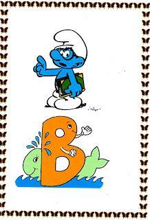 POR  AMOR: Alfabeto com os smurfs