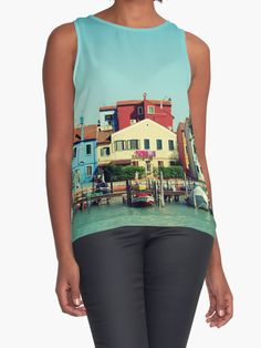 """Burano, the beautiful"" Contrast Tanks by josemanuelerre 