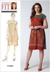 Misses Dress Vogue Sewing Pattern No. 1390. Multi-Size.