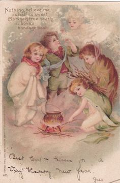 NEW YEAR; Angel watches Kids , PU-1904m ; TUCK