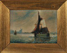 William Curry (American, 19th/20th Century)      Dutch Fishing Boat