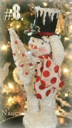 Nancy Malay's Victorian Whimsies sales page Vintage Christmas Ornaments, Vintage Holiday, Christmas Snowman, Winter Christmas, Christmas Time, Christmas Is Coming, All Things Christmas, Christmas Projects, Holiday Crafts