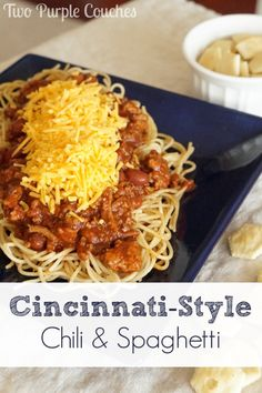 this! Cincinnati-Style Chili: layer of spaghetti, chili and shredded ...
