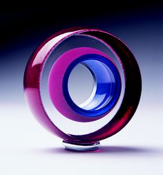 Glass paperweight by Teign Valley Glass contemporary glass art