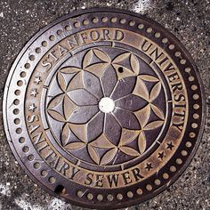 Manholes can be pretty even on a campus #mobile #stanford