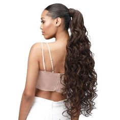 """30"""" Boss Up Romance Curl Ponytail by Bobbi Boss – Waba Hair and Beauty Supply Curled Ponytail, Perfect Ponytail, Bobbi Boss Hair, Your Hair, Curls, Boss 2, Beauty Supply, Extensions, Wigs"""