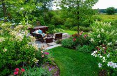 idées d'aménagement de jardin en printemps et été