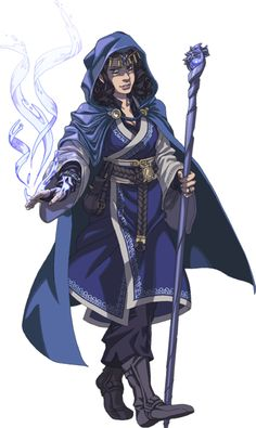 f Wizard cape staff casting mage