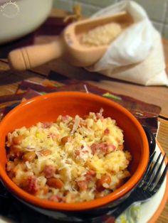 Briciole di Sapori           : Risotto con salsiccia e fagioli borlotti. Una rice...