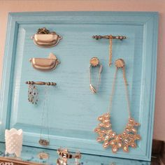 Easy & Creative Decor Ideas - Cabinet Door turned Jewelry Holder - Click Pic for 38 DIY Home Decor Ideas on a Budget