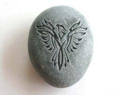 Infinity Heart Engraved Stone Wedding Oathing Stone Wedding