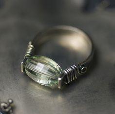 LUXE AA Green Amethyst Sterling Silver Metalwork Ring by Moss & Mist Jewelry by Moss & Mist Jewelry, via Flickr