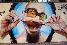 Artwork: Mateo Lara #streetart ♥♥♥