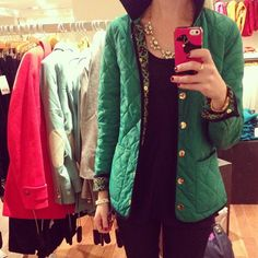 I really want a quilted jacket!! Preferably in red :-)