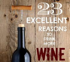 23 Excelentes razones para beber más vino