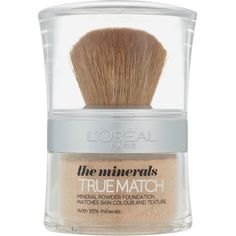 L'Oréal Paris True Match Minerals Foundation (Various Shades) ($21) ❤ liked on Polyvore featuring beauty products, makeup, face makeup, foundation, l oreal paris foundation, mineral foundation and l'oréal paris