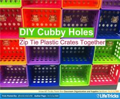 Classroom Organization and Supplies - DIY Cubby Holes