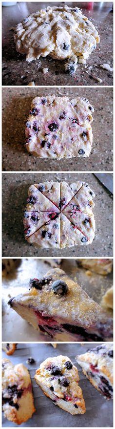 Blueberry Scones. The best scones recipe I have come across!