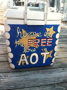 Kappa Delta painted cooler, AOT!!