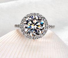 2 carat Diamond Wedding ring Engagement ring by Donatellawedding