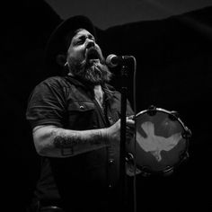 """NATHANIEL RATELIFF PLAYLIST (Click link in profile for playlist.) There's a little bit of soul, some R&B, a hint of gospel, a pinch of blues, and plenty of balls out rock n roll.  The track """"S.O.B."""" is sure to become the anthem of freshman fratboys everywhere, as long as they don't pay attention to the heartbreaking lyrics. Photo credit: Nathaniel Rateliff @ Red Rocks 9.6.15-64, by Nicole Kibert, is licensed by CC BY-NC-ND 2.0, cropped."""