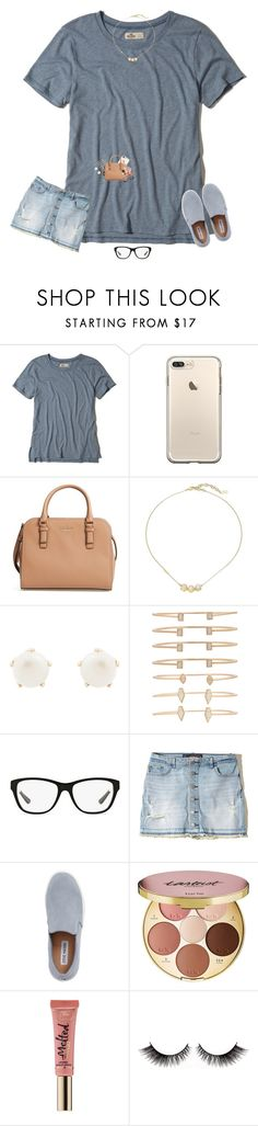 """""""So Much To Do, So Little Time"""" by bowbeauty01 ❤ liked on Polyvore featuring Hollister Co., Kate Spade, Cole Haan, Lulu Frost, Kendra Scott, Ralph Lauren, Steve Madden, tarte and Too Faced Cosmetics"""
