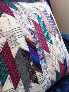This gave me an idea to collect men's ties from thrift stores to make a patchwork cushion with....... If I ever get round to it I will post up the photo!
