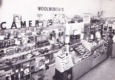 Woolworth's camera department 1958