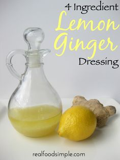 4 ingredient lemon ginger dressing | realfoodsimple.com
