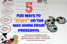 5 Fun Ways to Study on the way Home from School and Fun with Disney Junior! #Ready4Preschool #shop