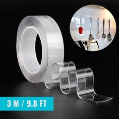MagicGrip™ Traceless Self-Adhesive Nano Tape – Simply Novelty 25 Life Hacks, Useful Life Hacks, Rv Hacks, Duct Tape Crafts, Washi Tape, Strong Tape, Led Lighting Home, Mini Iron, Couch Design