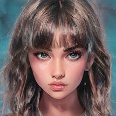 Female Character Inspiration, Fantasy Character Design, Character Art, Digital Art Girl, Digital Portrait, Portrait Art, Anime Love Story, Freckles Girl, Arte Sketchbook