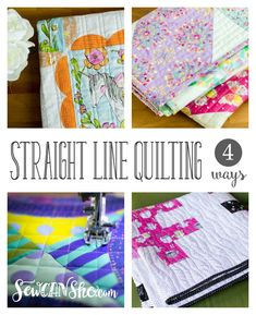 You may have noticed that I've been doing a lot of straight line (or wiggly straight line, lol) quilting lately... it's true! So here are 4 easy variations on straight line quilting that I think YOU will love.
