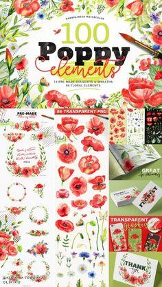 Watercolor DIY Poppy Pack - 794391