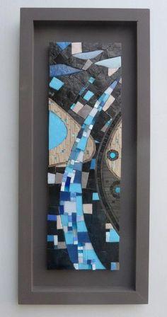 mosaic and co , sandrine daubrege Mosaic Tile Art, Mosaic Artwork, Mirror Mosaic, Mosaic Glass, Glass Art, Stained Glass, Sea Glass, Mosaic Designs, Mosaic Patterns