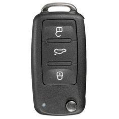 Remoto caso de cáscara llave de 3 botones + hoja sin cortar de VW Polo
