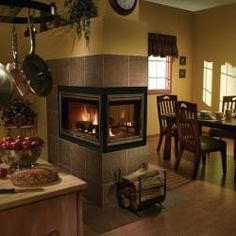 Love this 3 sided fireplace