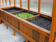 Cedar greenhouse soil benches