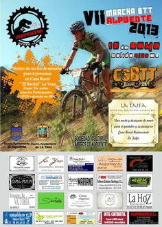 Cartel Marcha BTT Alpuente 2013 #BTT #Dinobikers #CSBTT www.circuitoserraniabtt.com