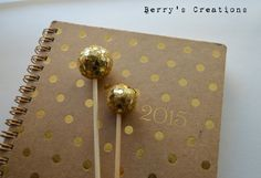 Gold Glitter Disco Ball Swizzle Stir Stick. 20 by BerrysCreations